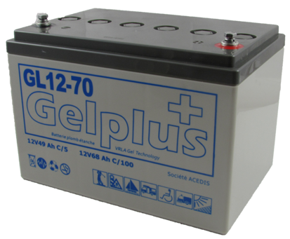 gel batteries acedis gelplus range